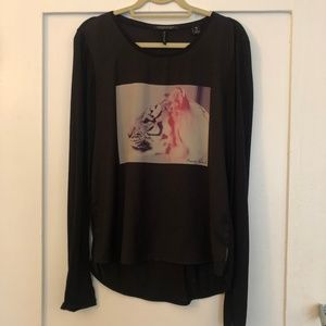 Maison Scotch Tiger Long-Sleeved Shirt - 3/L